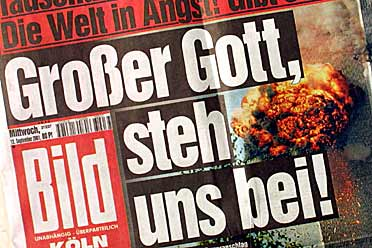 "About God and the world - BILD, german newspaper, ""Great God, stand by us!"""