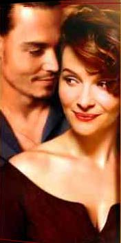 "image du film ""Chocolat"" Johnny  Depp et Juliette Binoche"